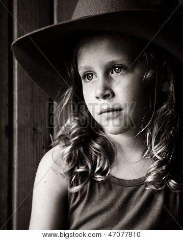 Sad Little Cowgirl