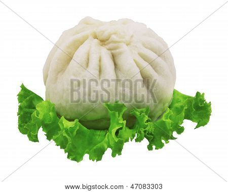 a  Chinese steamed bun