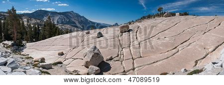 Panorama Of Stone Hill At Yosemite National Park