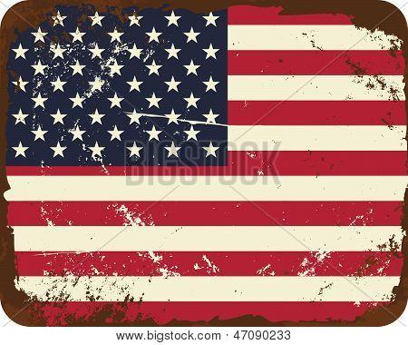 Vintage Us Flag