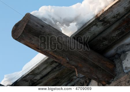 Wooden Roof, Drooping Snow 2