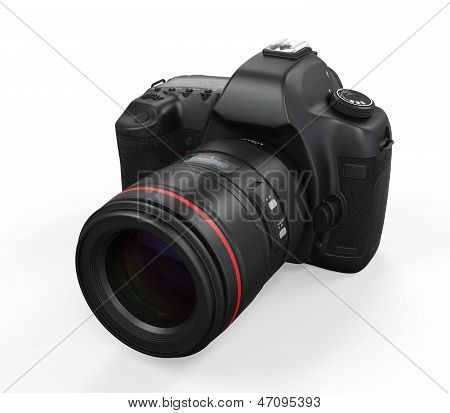 Digital SLR Camera Isolated