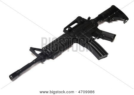 Us Army M4A1 Rifle Isolated.