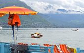 image of annecy  - Lake of Annecy in France in spring - JPG