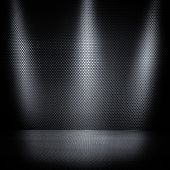 spotlights on metal background