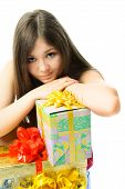 Upset Girl With Presents