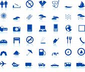 picture of transportation icons  - Biggest collection of different travel icons for using in web design - JPG