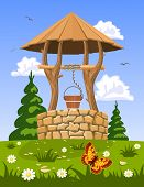 picture of wishing-well  - Well of fresh natural water - JPG