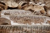 stock photo of fountains  - Detail of the Trevi Fountain which is a fountain in the Trevi district in Rome Italy - JPG