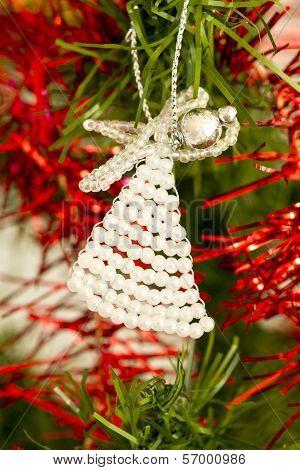 Beaded angel on a Christmas tree