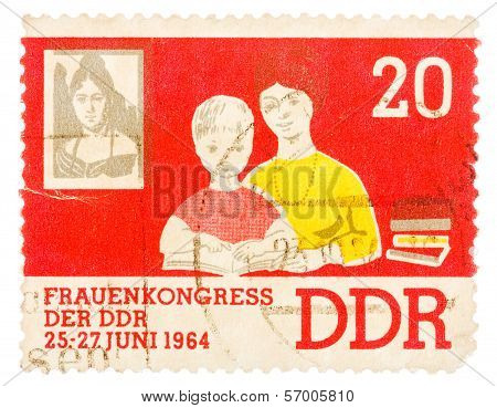 Postcard Printed In The Gdr Shows Women's Congress