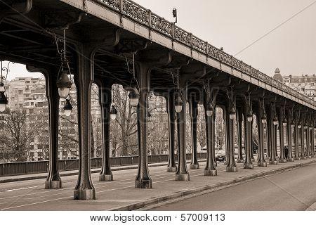 Viaduct de Passy, Parid in sepia
