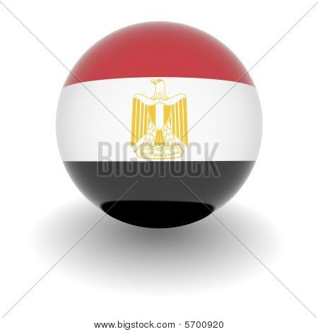 High Resolution Ball With Flag Of Egypt