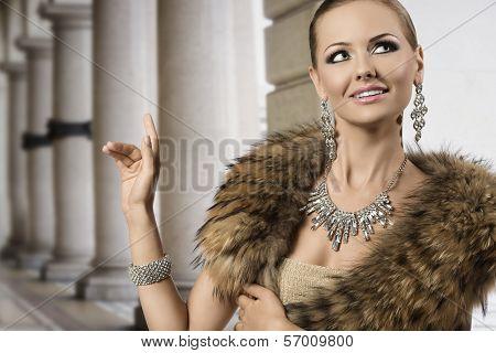 Smiling Fashion Aristocratic Girl