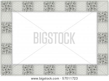 Black and White patchwork Border
