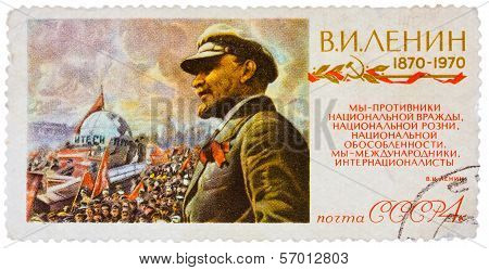 Stamp Printed In The Russia (soviet Union) Shows V. I. Lenin, 1870-1970