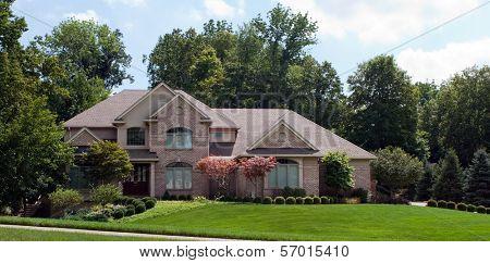 Grand Suburban Brick Home