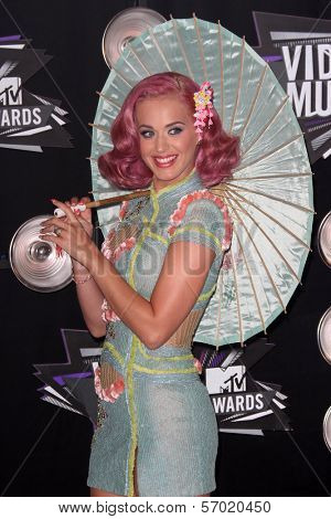 Katy Perry at the 2011 MTV Video Music Awards Arrivals, Nokia Theatre LA Live, Los Angeles, CA 08-28-11