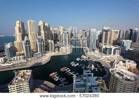 Dubai Marina High Angle View