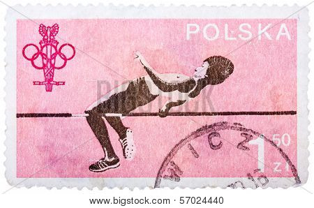 Stamp Printed In Poland Shows Jumper