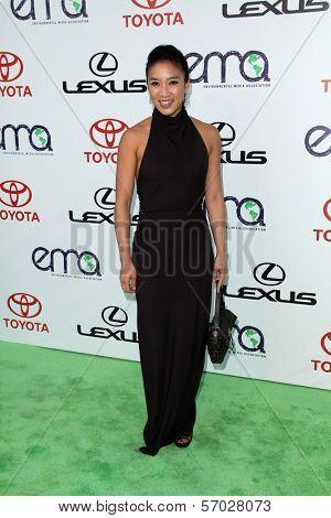 Michelle Kwan at the 2011 Environmental Media Awards, Warner Bros. Studios, Burbank, CA 10-15-11