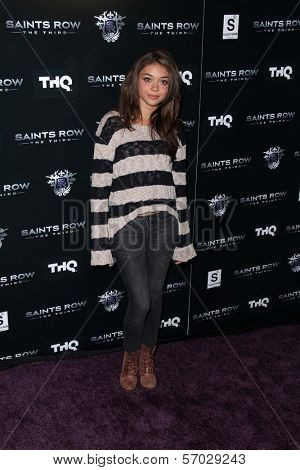Sarah Hyland at the Saints Row: The Third Game Pre-Launch Event, Supperclub, Hollywood, CA. 10-12-11