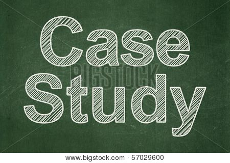 Education concept: Case Study on chalkboard background