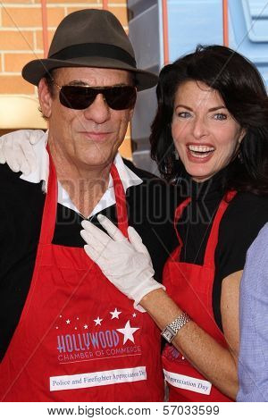 Robert Davi and Joan Severence at the Hollywood Chamber Of Commerce 17th Annual Police And Fire BBQ, Private Location, Hollywood, CA 11-30-11