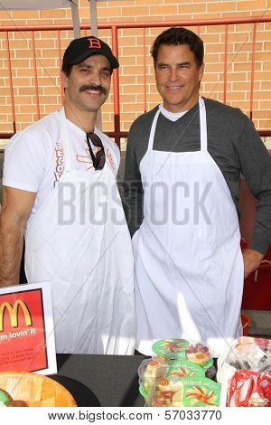 Johnathon Schaech and Ted McGinley at the Hollywood Chamber Of Commerce 17th Annual Police And Fire BBQ, Private Location, Hollywood, CA 11-30-11
