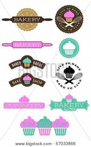 Ten Bakery And Cupcake Badges