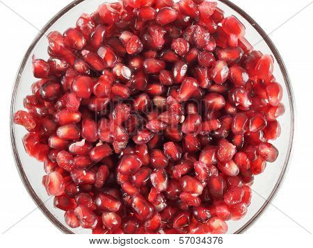 Pomegranate Seeds In A Bowl
