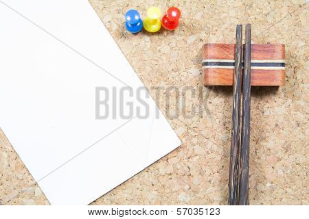 Chopsticks And Paper Note