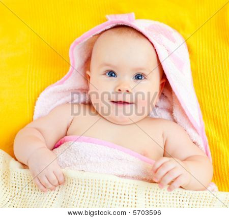 Infant In Towel