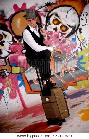 Adolescente mala Graffiti Wall