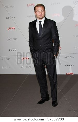 Leonardo DiCaprio at the LACMA Art + Film Gala Honoring Clint Eastwood and John Baldessari, LACMA, Los Angeles, CA 11-05-11