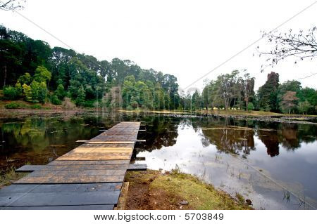 Jetty And Paceful Lagoon