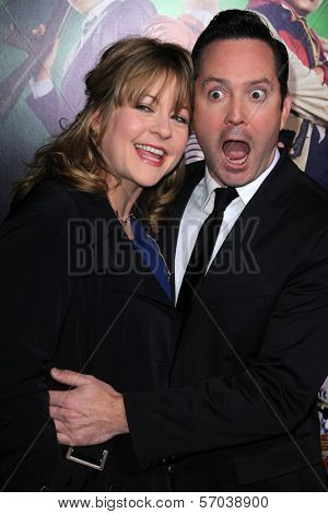 Thomas Lennon and wife at the