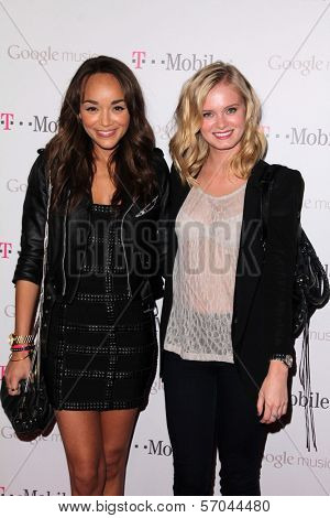 Ashley Madekwe, Sara Paxton at Google And T-Mobile Celebrate The Launch Of Google Music, Mr. Brainwash Studios, Los Angeles, CA 11-16-11