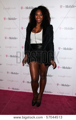 Serena Williams at Google And T-Mobile Celebrate The Launch Of Google Music, Mr. Brainwash Studios, Los Angeles, CA 11-16-11
