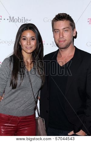 Emmanuelle Chriqui, Lance Bass at Google And T-Mobile Celebrate The Launch Of Google Music, Mr. Brainwash Studios, Los Angeles, CA 11-16-11