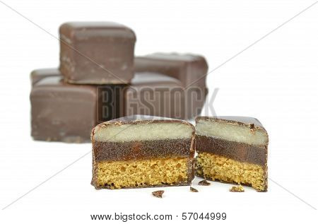 Square Chocolate Sponge Fancies
