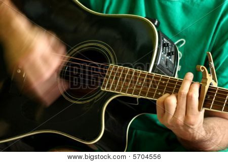 Acoustic guitar player