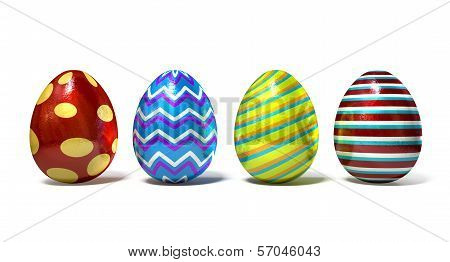 Easter Egss In A Row