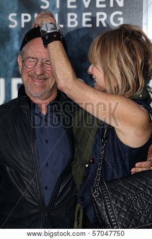 Steven Spielberg and Kate Capshaw at the