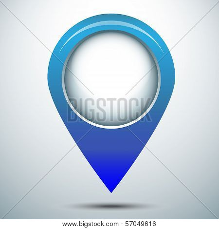 Map marker pin vector icon
