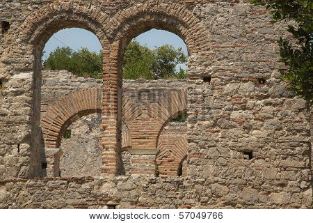 Detail Shoot Of Roman Gate In Butrint, Albania