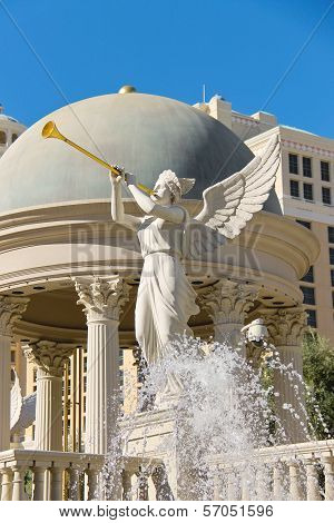 Statue Of Cherub In Caesar's Palace   In Las Vegas
