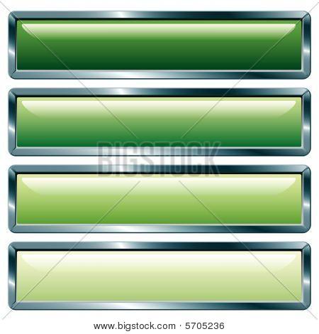 Verde metálico largo