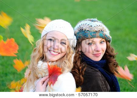 Two Girl Under The Maple Tree
