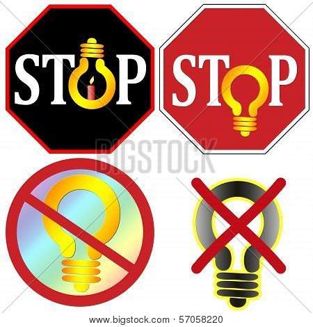 Stop Using Light Bulbs Set